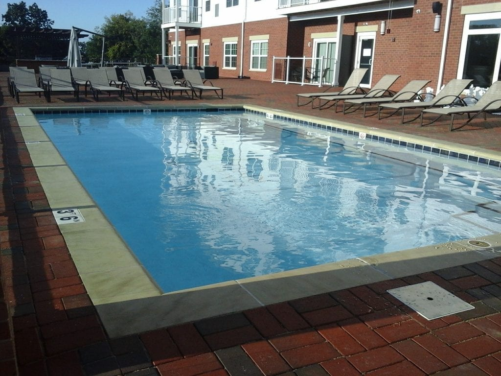 commercial rooftop pool installed by Ohio Custom Pool & Patio