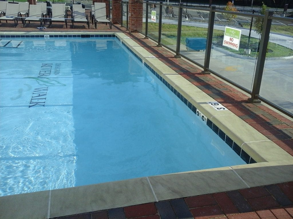 Rooftop commercial pool installed by Ohio Custom Pool & Patio